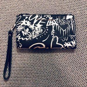 Michael Kors Black and White Print Wallet